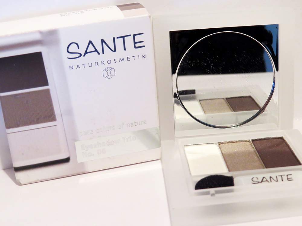Maquillage bio et naturel Sante Naturkosmetik eyeshadow trio